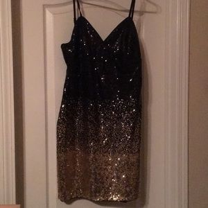 GUESS black and gold dress